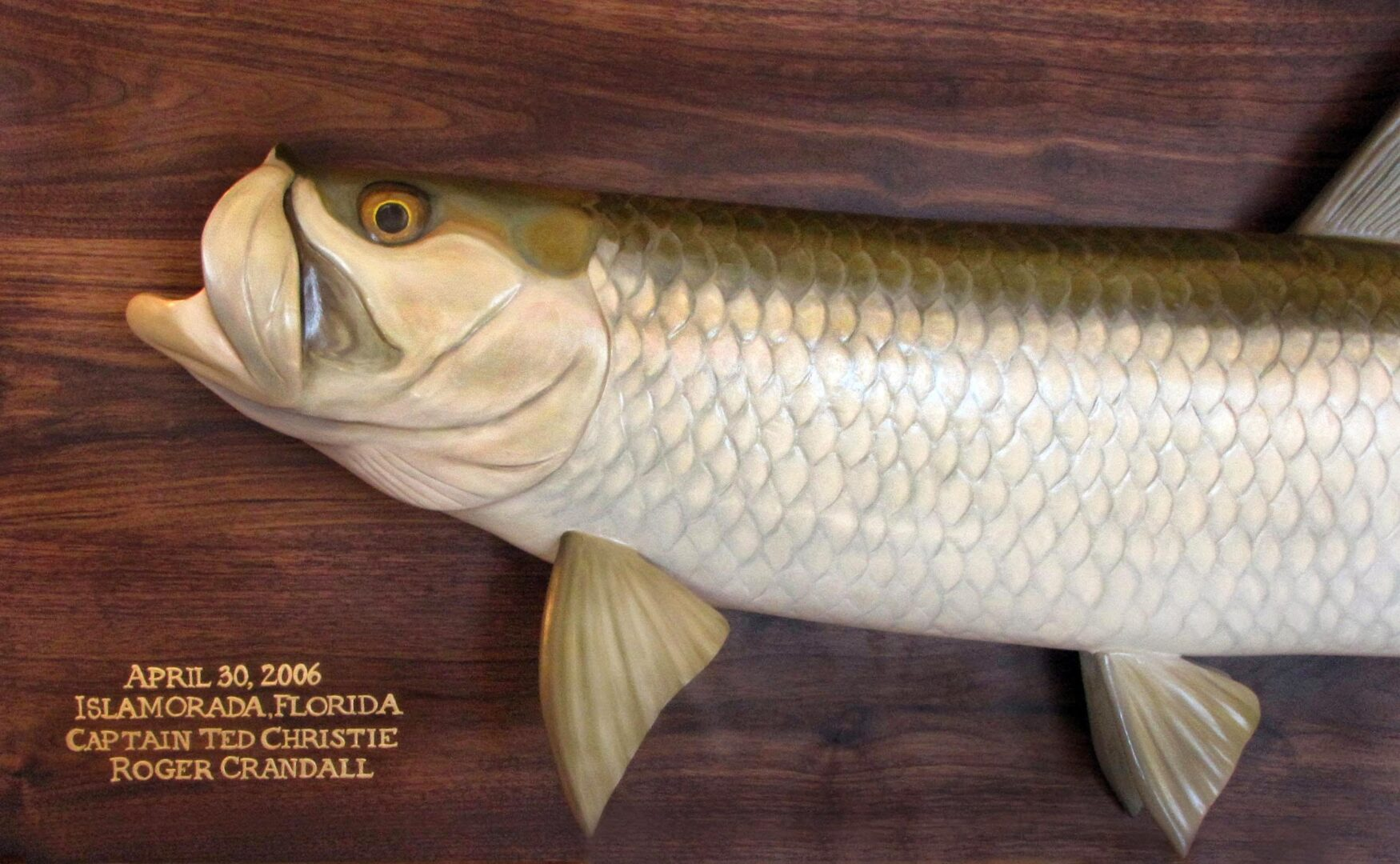 Tarpon fish carving